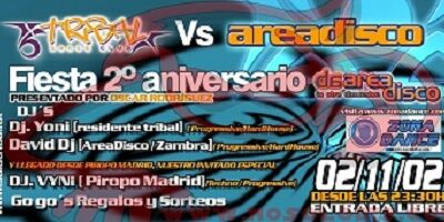 (VIDEO FIESTA) Sala Tribal Dance Club @ 2º Aniversario Area Disco (02-11-02)