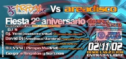 (VIDEO FIESTA) Sala Tribal Dance Club @ 2º Aniversario Area Disco (02-11-02)