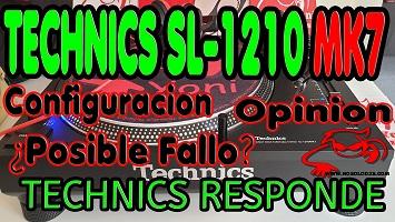 TECHNICS SL 1210 MK7 Configuración interruptores + ¿Posible Fallo? TECHNICS RESPONDE + Opinión