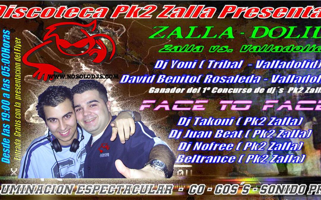 (VIDEO FIESTA) Zalladolid@PK2 Zalla — En cabina Dj Yoni & David Dj — (12.12.04)